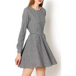 Sukienki: Rozkloszowana sukienką w kratkę XL+