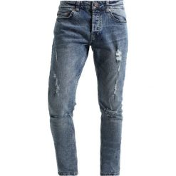 Only & Sons ONSSPUN DAMAGE Jeansy Slim Fit blue denim. Brązowe jeansy męskie marki Only & Sons, l, z poliesteru. Za 169,00 zł.