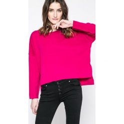 Answear - Sweter Ernesta. Niebieskie swetry klasyczne damskie marki DOMYOS, z elastanu, street, z okrągłym kołnierzem. W wyprzedaży za 79,90 zł.