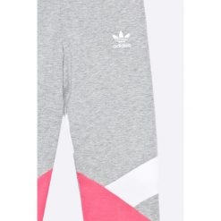Adidas Originals - Legginsy dziecięce 128-170 cm. Szare legginsy dziewczęce adidas Originals, z bawełny. W wyprzedaży za 99,90 zł.