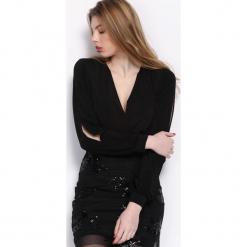 Czarna Sukienka Partite. Czarne sukienki balowe marki Born2be, s, z dzianiny, z długim rękawem, mini. Za 79,99 zł.