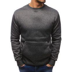 Bluzy męskie: Bluza męska kangurka antracytowa (bx1883)