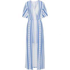 Sukienki: Sukienka shirtowa 2 w 1 bonprix biało-niebieski z nadrukiem