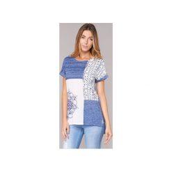 T-shirty z krótkim rękawem Desigual  GRIZEL. Niebieskie t-shirty damskie Desigual, xs. Za 168,35 zł.