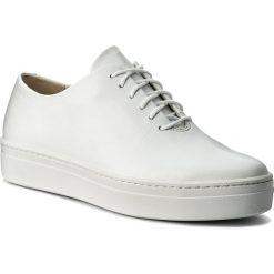 Półbuty VAGABOND - Camille 4346-101-01 White. Białe półbuty damskie skórzane marki Vagabond, na płaskiej podeszwie. W wyprzedaży za 299,00 zł.