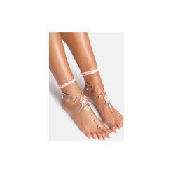 Bransoletki damskie: Różowa bransoletka na stopę Dreamcatcher