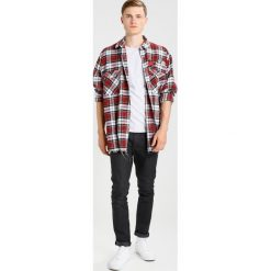 Koszule męskie na spinki: 12 Midnight CHECK SHIRT WITH SEWN PATCHES Koszula red