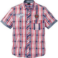 Koszula w kratę z krótkim rękawem bonprix czerwony w kratę. Czerwone koszule męskie marki Cropp, l. Za 89,99 zł.