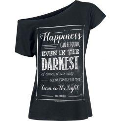 Bluzki asymetryczne: Harry Potter Happiness Can Be Found Koszulka damska czarny