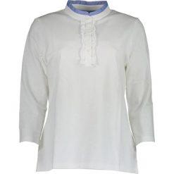 Bluzki damskie: Koszulka polo w kolorze białym