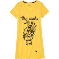 Koszula nocna bonprix złocisto-żółty z nadrukiem. Pomarańczowe koszule nocne i halki marki bonprix, z nadrukiem, z materiału. Za 34,99 zł.