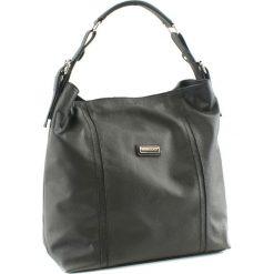 Torebki klasyczne damskie: Skórzana torebka w kolorze antracytowym – (S)43 x (W)34 x (G)12 cm