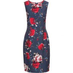 Sukienki: Sukienka  drukowana bonprix indygo z kolorowym nadrukiem