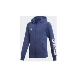 Bluzy dresowe Dziecko adidas  Bluza z kapturem Essentials 3-Stripes Mid. Niebieskie bluzy chłopięce rozpinane marki Adidas, z dresówki. Za 125,30 zł.