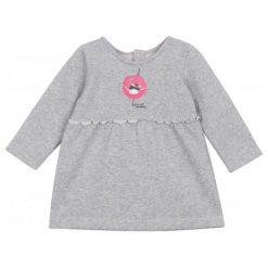 Sukienki niemowlęce: Sukienka z szeroką falbaną ze srebrną nitką dla niemowlaka