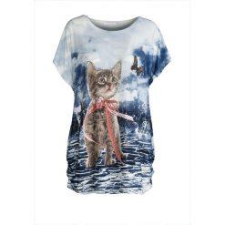 T-shirty damskie: Granatowy T-shirt Sweet Animal