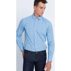 Trussardi Jeans - Koszula. Szare koszule męskie jeansowe marki S.Oliver, l, z włoskim kołnierzykiem, z długim rękawem. W wyprzedaży za 269,90 zł.
