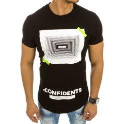 T-shirty męskie z nadrukiem: T-shirt męski z nadrukiem czarny (rx2110)