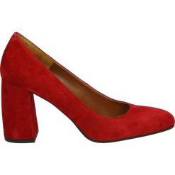 Czółenka - 2201 CAM ROSS. Czerwone buty ślubne damskie Venezia, ze skóry. Za 349,00 zł.