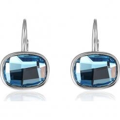 Kolczyki z kryształkami Swarovski. Niebieskie kolczyki damskie Biżuteria z kryształkami Swarovski, z kryształem, z zapięciem typu bigiel. W wyprzedaży za 68,95 zł.