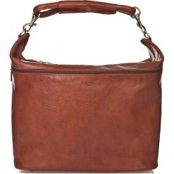 Skórzana torebka w kolorze brązowym - 37 x 52 x 19 cm. Brązowe torebki klasyczne damskie I MEDICI FIRENZE, w paski, z materiału. W wyprzedaży za 652,95 zł.