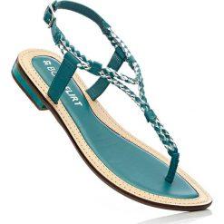 Sandały skórzane bonprix turkusowy. Niebieskie rzymianki damskie bonprix. Za 59,99 zł.