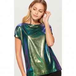 Koszulka z holograficznym efektem - Wielobarwn. Szare t-shirty damskie Mohito, l. Za 39,99 zł.