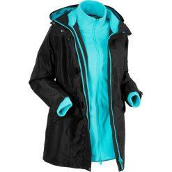 Płaszcze damskie: Płaszcz outdoorowy 3 w 1 bonprix czarno-morski