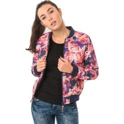 Odzież sportowa damska: IGUANA Kurtka damska Kahina  Pink Floral Print/Patriot Blue r. S