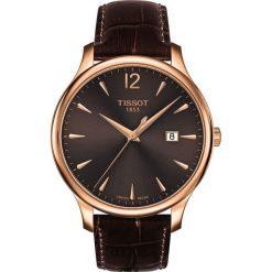 RABAT ZEGAREK TISSOT T- CLASSIC T063.610.36.297.00. Brązowe zegarki damskie TISSOT. W wyprzedaży za 1139,60 zł.