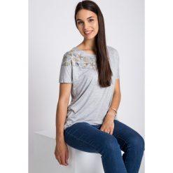Bluzki damskie: Szara bluzka z muszelkami QUIOSQUE