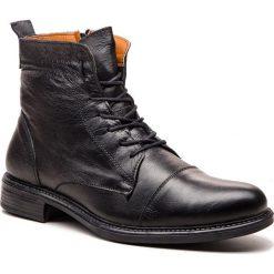 Kozaki LANQIER - 43A630 Czarny. Czarne buty zimowe męskie Lanqier, z materiału. W wyprzedaży za 219,00 zł.