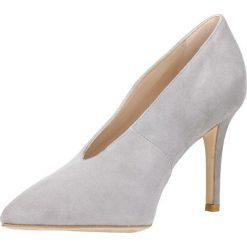 Czółenka SAVONA. Szare buty ślubne damskie Gino Rossi, w geometryczne wzory, ze skóry, na wysokim obcasie, na szpilce. Za 249,90 zł.