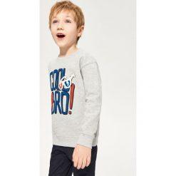 Odzież dziecięca: Melanżowa bluza z nadrukiem - Jasny szar