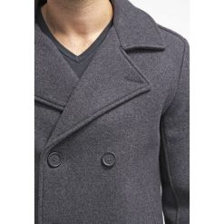 Pier One Krótki płaszcz dark grey. Szare płaszcze wełniane męskie marki Pier One, m. Za 379,00 zł.