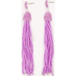 Kolczyki damskie: NA-KD Boho Kolczyki chwosty z kolorowych koralików – Pink