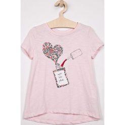 Name it - Top dziecięcy 122-164 cm. Szare bluzki dziewczęce marki Name it, z nadrukiem, z bawełny, z okrągłym kołnierzem. Za 59,90 zł.