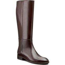 Oficerki GINO ROSSI - Miwa DKH124-S96-0B00-3700-F 92. Brązowe buty zimowe damskie marki Gino Rossi, z polaru, na obcasie. W wyprzedaży za 369,00 zł.