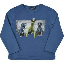 Koszulka w kolorze niebieskim. Niebieskie t-shirty chłopięce z długim rękawem MeToo, z nadrukiem. W wyprzedaży za 47,95 zł.