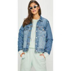 Levi's - Kurtka. Brązowe kurtki damskie jeansowe marki Levi's®, z obniżonym stanem. Za 399,90 zł.