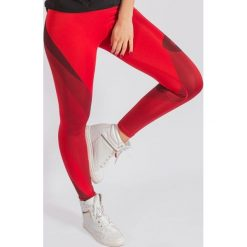 Spodnie dresowe damskie: KARMA Spodnie damskie Leggings Red Temptation r. M (74704)