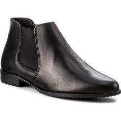 Buty zimowe damskie: Sztyblety TAMARIS – 1-25097-21 Black Leather 003