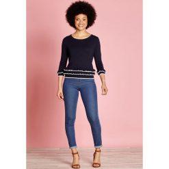 Kardigany damskie: Sweter z okrągłym dekoltem, cienka dzianina