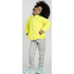 Kurtki dziewczęce przeciwdeszczowe: Kurtka puchowa 2w1 dla małych dziewczynek JKUDP102 - żółty