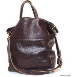 Torebki klasyczne damskie: Czekoladowa skórzana torba 02