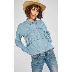 Noisy May - Koszula Grace. Szare koszule damskie marki Noisy May, l, z bawełny, casualowe, z klasycznym kołnierzykiem, z długim rękawem. W wyprzedaży za 79,90 zł.