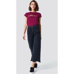 Spodnie damskie: Trendyol Szerokie jeansy z zamkiem - Black