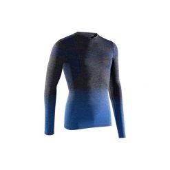 Koszulka termoaktywna długi rękaw dla dorosłych Kipsta Keepdry 500. Czarne odzież termoaktywna męska marki B'TWIN, m, z elastanu, z długim rękawem. W wyprzedaży za 39,99 zł.