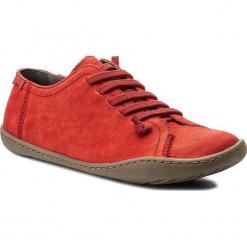 Półbuty CAMPER - Peu Cami 20848-126 Red. Czerwone creepersy damskie Camper, z materiału, na płaskiej podeszwie. W wyprzedaży za 339,00 zł.