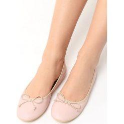 Baleriny damskie lakierowane: Różowe Balerinki Bucolic